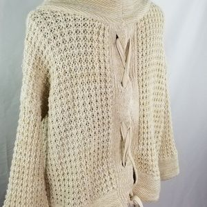 Mystree Chunky Knit Lace-up Back Sweater